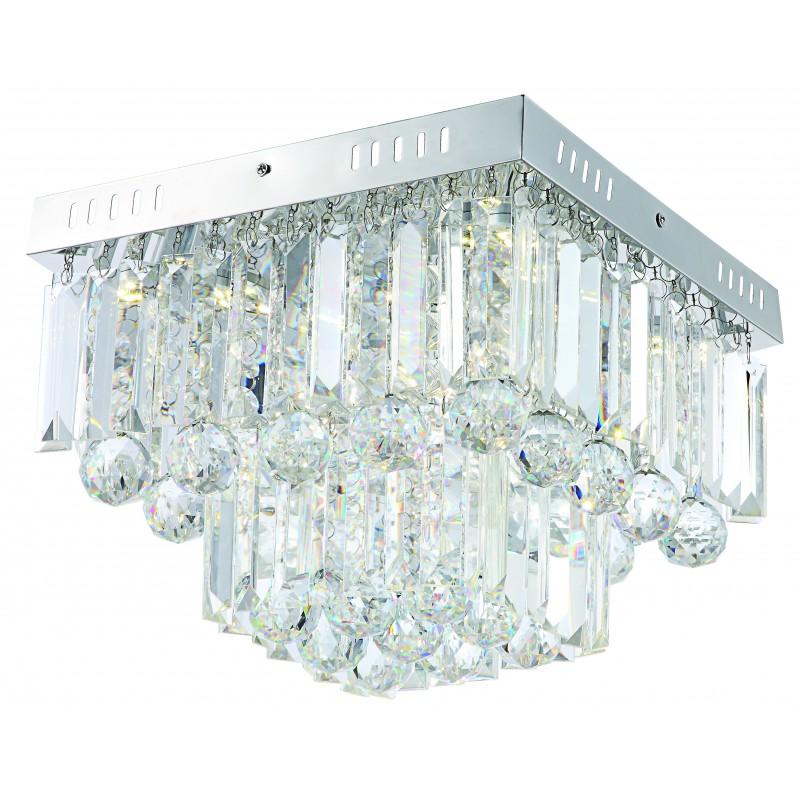 Plafony - lampa sufitowa chromowa z kryształkami led 18w 4000k carmina 98-44716 candellux firmy Candellux
