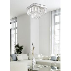 Plafony - lampa sufitowa chromowa z kryształkami led 18w 4000k carmina 98-44716 candellux