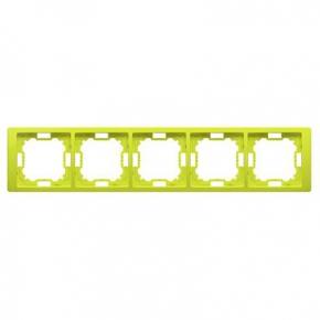 Ramka pięciokrotna limonkowa BMRC5/036 Simon Basic Neos Kontakt-Simon