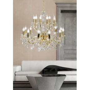 Lampy-sufitowe - lampa wisząca sufitowa złota na 18 żarówek e14 40w maria teresa 30-94615 candellux