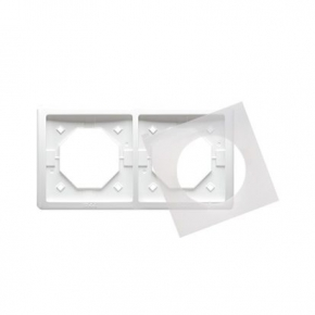 Biała ramka podwójna IP44 BMR2B/11 Simon Basic Standard Kontakt-Simon