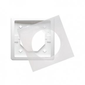Biała ramka pojedyncza IP44 BMR1B/11 Simon Basic Standard Kontakt-Simon