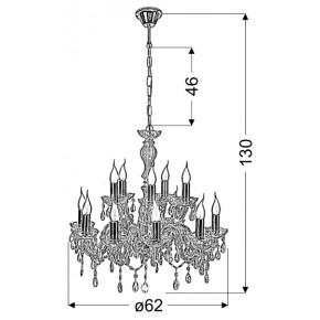 Lampy-sufitowe - lampa wisząca sufitowa złota z kryształkami 12x40w e14 maria teresa 30-94608 candellux