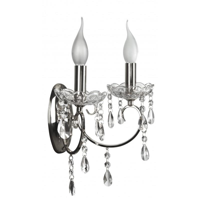 Kinkiety - kinkiet dekoracyjny z kryształkami 2xe14 22-96138 aurora candellux firmy Candellux