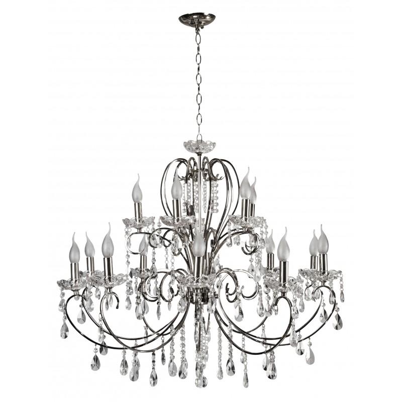 Lampy-sufitowe - ekskluzywna, chromowa lampa wisząca 15xe14 *40w aurora 30-97586 candellux firmy Candellux