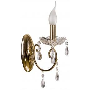 Kinkiety - ozdobny złoty kinkiet do sal weselnych aurora 21-97609 candellux