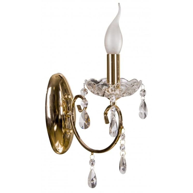 Kinkiety - ozdobny złoty kinkiet do sal weselnych aurora 21-97609 candellux firmy Candellux