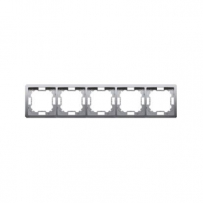 Inox ramka pięciokrotna BMR5/21 Simon Basic Standard Kontakt-Simon