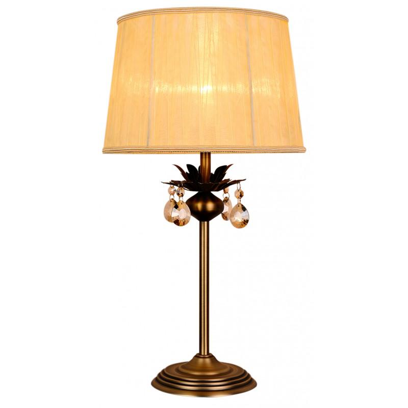 Lampki-nocne - lampa gabinetowa patynowa z kryształkami 1x60w e27 adonis 41-27535 candellux firmy Candellux