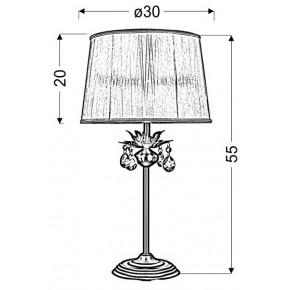 Lampki-nocne - lampa gabinetowa patynowa z kryształkami 1x60w e27 adonis 41-27535 candellux
