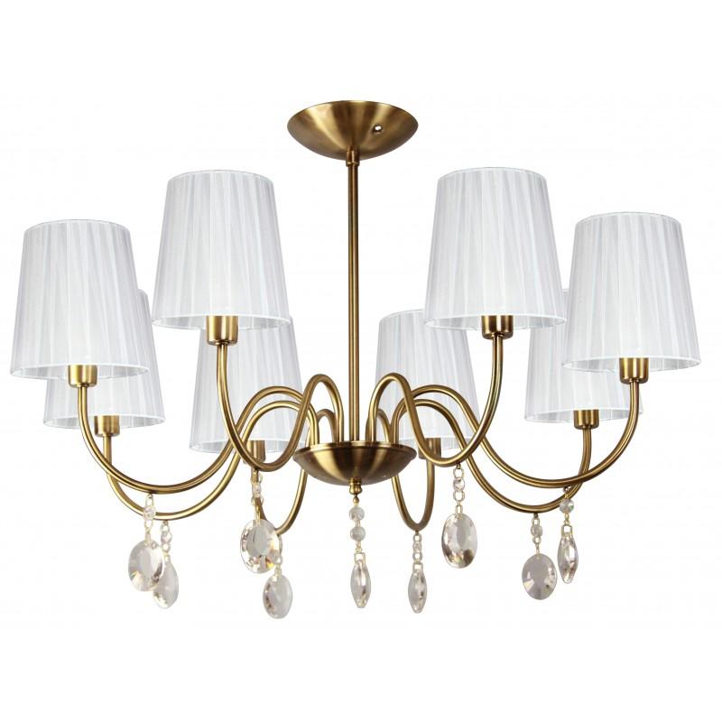 Lampy-sufitowe - ekskluzywna lampa wisząca biało-złota 8x40w e14 sorento 38-38159 candellux firmy Candellux
