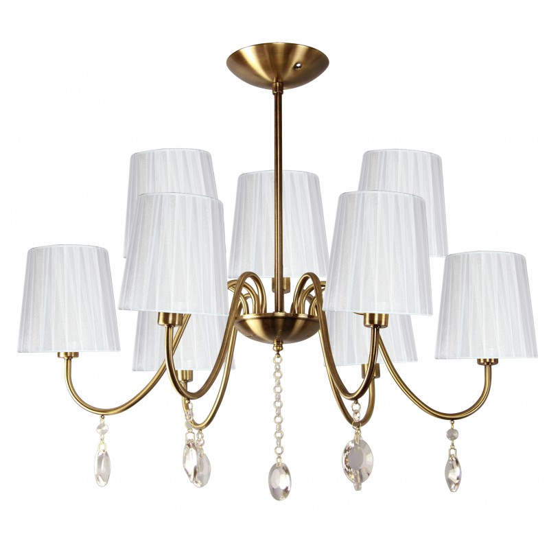 Lampy-sufitowe - żyrandol z efektownymi kryształkami 9x40w e14 sorento 39-38173 candellux firmy Candellux