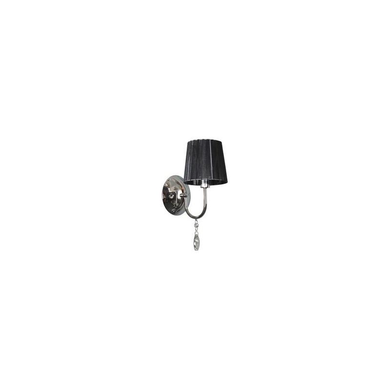 Kinkiety - kinkiet w szykownym czarno-chromowym kolorze 1x40w e14 sorento 21-38036 candellux firmy Candellux