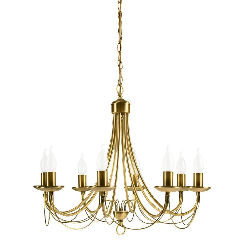 Lampy-sufitowe - złota dekoracyjna lampa bankietowa 8xe14 38-69187 candellux firmy Candellux