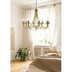 Lampy-sufitowe - złota dekoracyjna lampa bankietowa 8xe14 38-69187 candellux