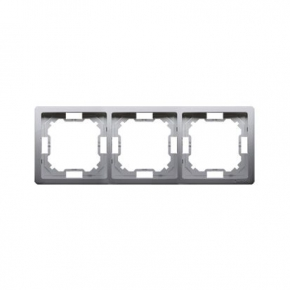 Inox potrójna ramka BMR3/21 Simon Basic Standard Kontakt-Simon