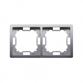 Inox podwójna ramka BMR2/21 Simon Basic Standard Kontakt-Simon