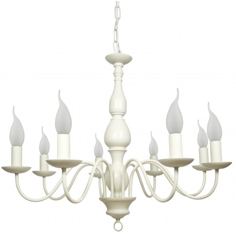 Lampy-sufitowe - kremowa lampa wisząca ośmioramienna 8x40w e14 bellagio 38-96510 candellux firmy Candellux