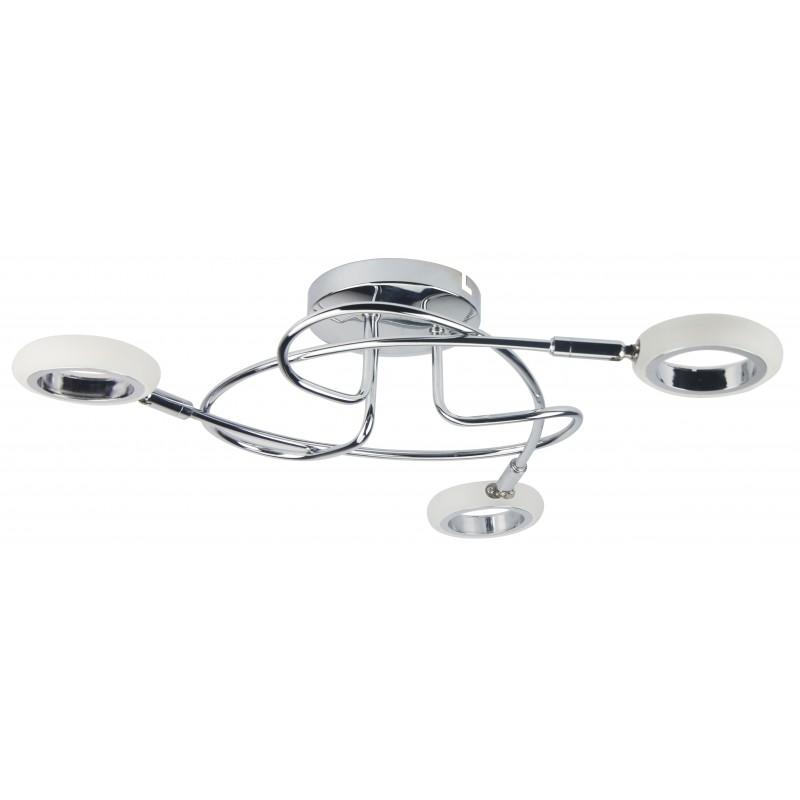 Lampy-sufitowe - designerska lampa sufitowa 3x4w led chrom 3000k aurelion 98-65582 candellux firmy Candellux