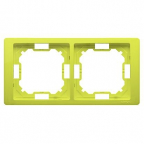 Ramka podwójna limonkowa BMRC2/036 Simon Basic Neos Kontakt-Simon