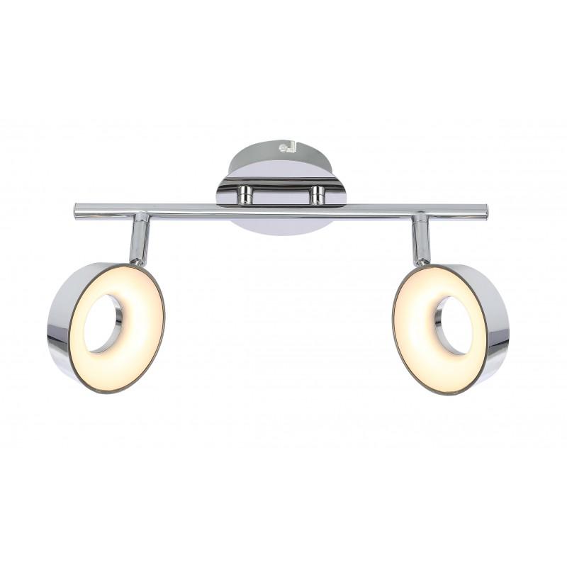 Lampy-sufitowe - lampa sufitowa spot podwójny 2x4w led chrom 92-61713 isla candellux firmy Candellux
