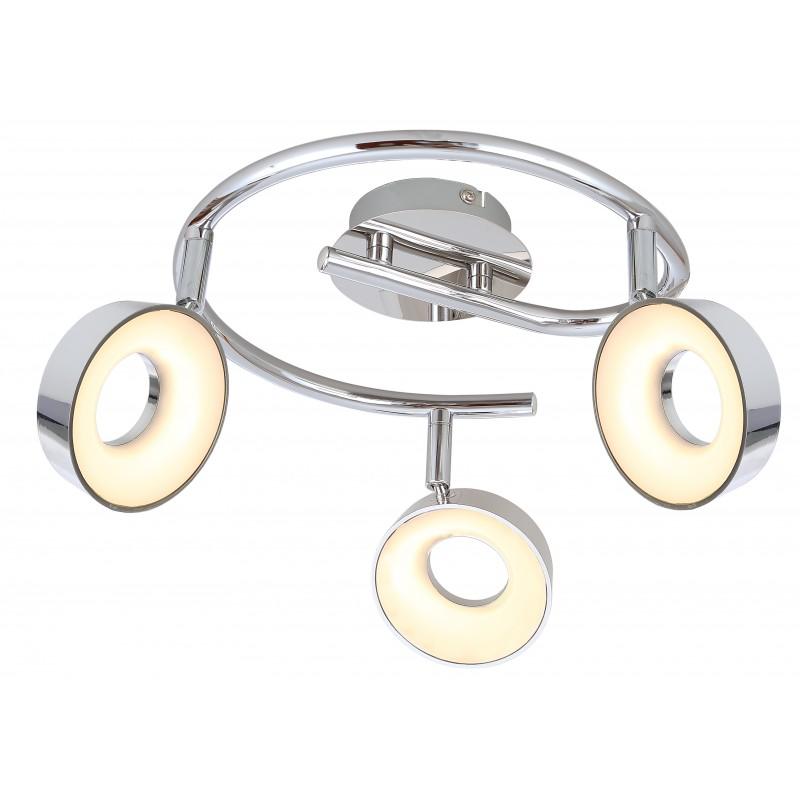 Lampy-sufitowe - lampa sufitowa spirala led chrom 3x4w isla 98-61737 candellux firmy Candellux