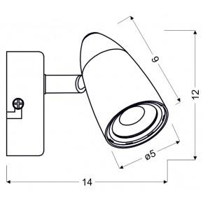 Kinkiety - kinkiet chromowany led pojedynczy liberty 91-49551 candelluc
