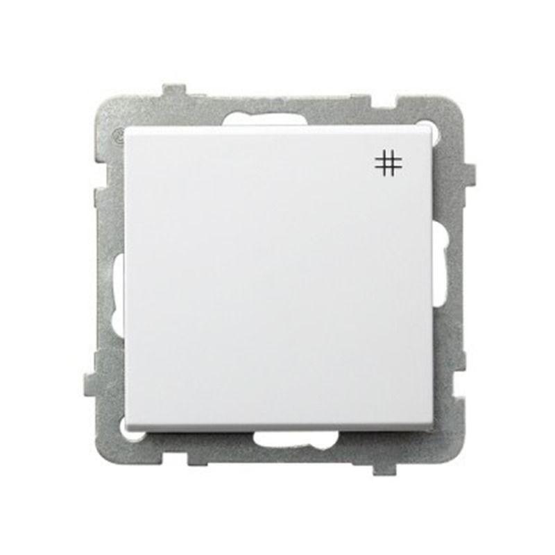 Biały włącznik krzyżowy  ŁP-4R/M SONATA Ospel