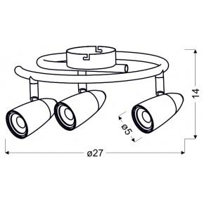 Lampy-sufitowe - lampa sufitowa spirala chrom led 3x4w 93-49612 liberty candellux