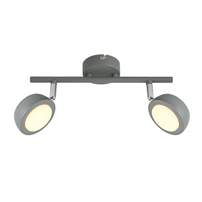 Lampy-sufitowe - szary spot oświetleniowy led 2x6w ciepłe światło mild 92-66749 candellux firmy Candellux
