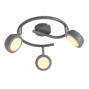 MILD LAMPA SUFITOWA SPIRALA 3X6W LED SZARY 3000K