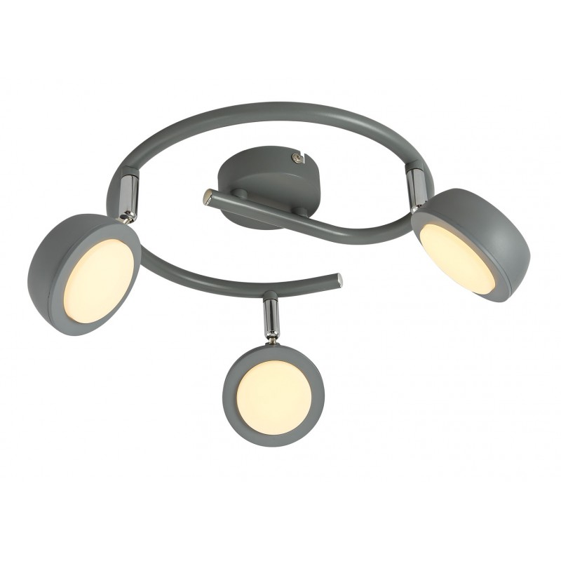 Lampy-sufitowe - szara spiralna  lampa sufitowa 3 punkty świetlne led mild 98-66558 candellux firmy Candellux