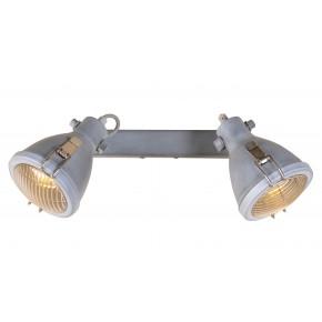 Oprawy-sufitowe - lampa sufitowa podwójna listwa w kolorze szarym 2xe14 2x40w 92-71118 crodo candellux