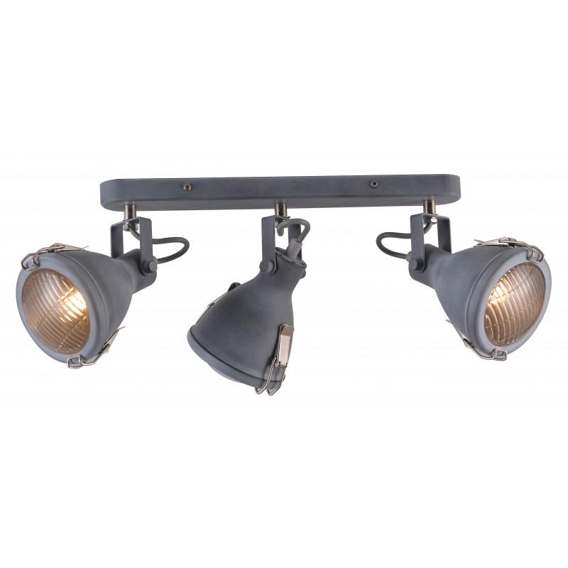 Oprawy-sufitowe - potrójny spot oświetleniowy szary na żarówki e14 40w crodo 93-71125 candellux firmy Candellux