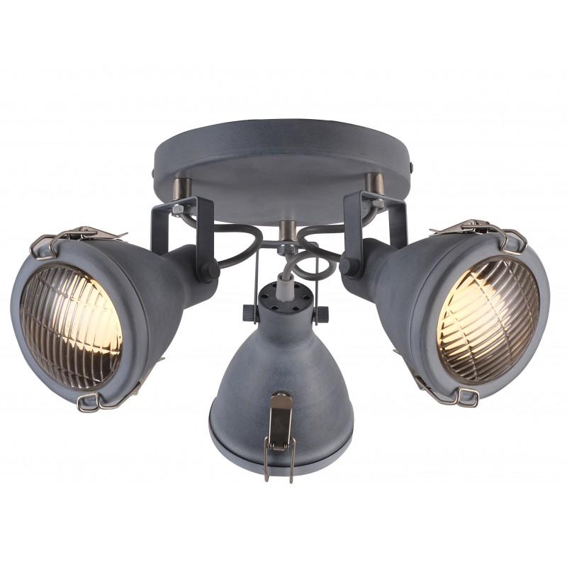 Oprawy-sufitowe - szara lampa sufitowa spot potrójny 3xe14 40w crodo 98-71132 candellux firmy Candellux