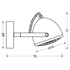 Kinkiety - kinkiet pojedynczy o ruchomym kloszu 1x50w gu10 pent 91-67999 candellux