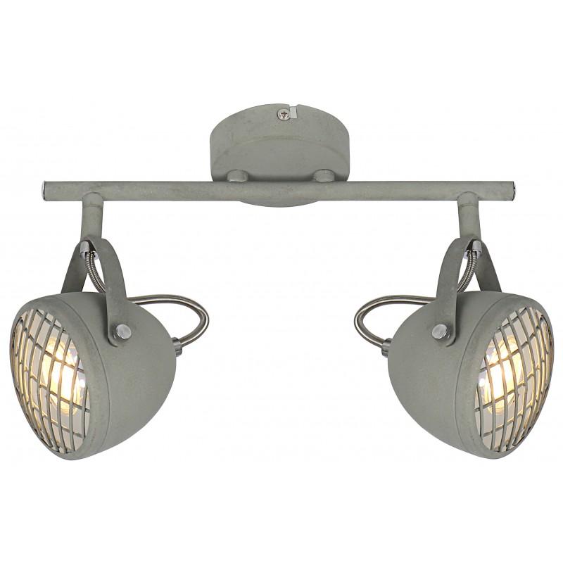 Lampy-sufitowe - spot oświetleniowy betonowo - szary 2x50w gu10 pent 92-68057 candellux firmy Candellux