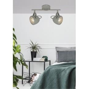 Lampy-sufitowe - spot oświetleniowy betonowo - szary 2x50w gu10 pent 92-68057 candellux