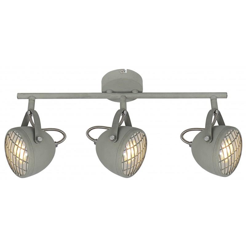 Lampy-sufitowe - metalowa lampa sufitowa listwa w kolorze szarego betonu 3x50w gu10 pent 93-68064 candellux firmy Candellux