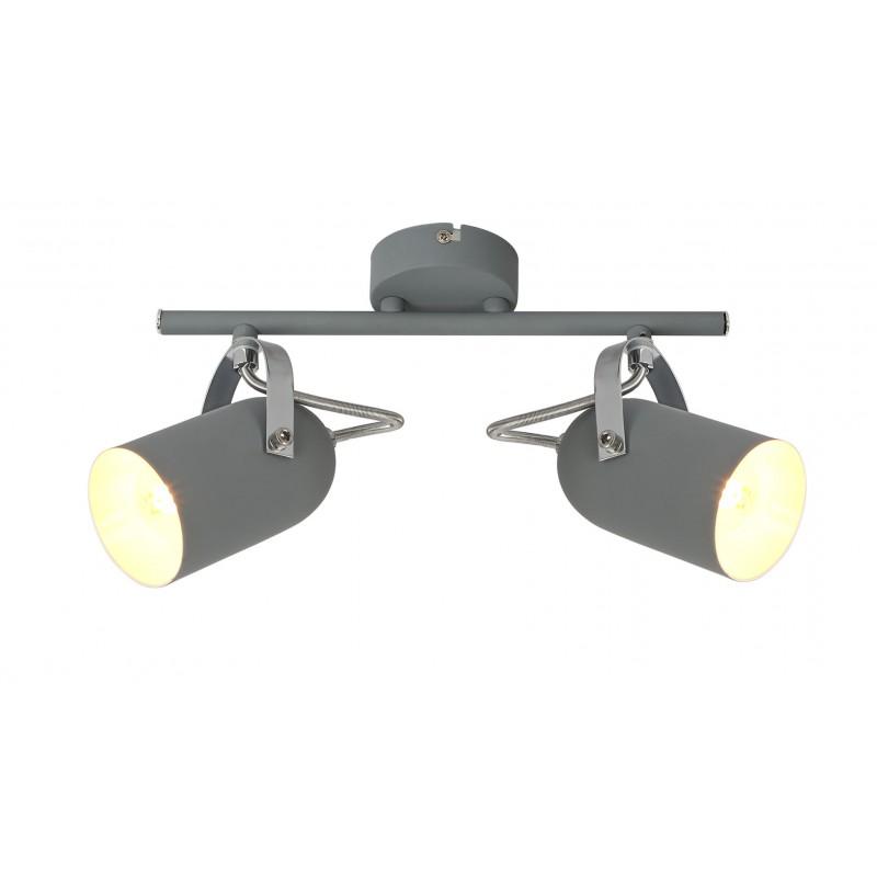Oswietlenie-szynowe - lampa sufitowa listwa szara 2x40w e14 gray 92-66480 candellux firmy Candellux