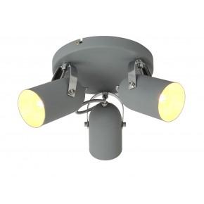 GRAY LAMPA SUFITOWA PLAFON 3X40W E14 SZARY
