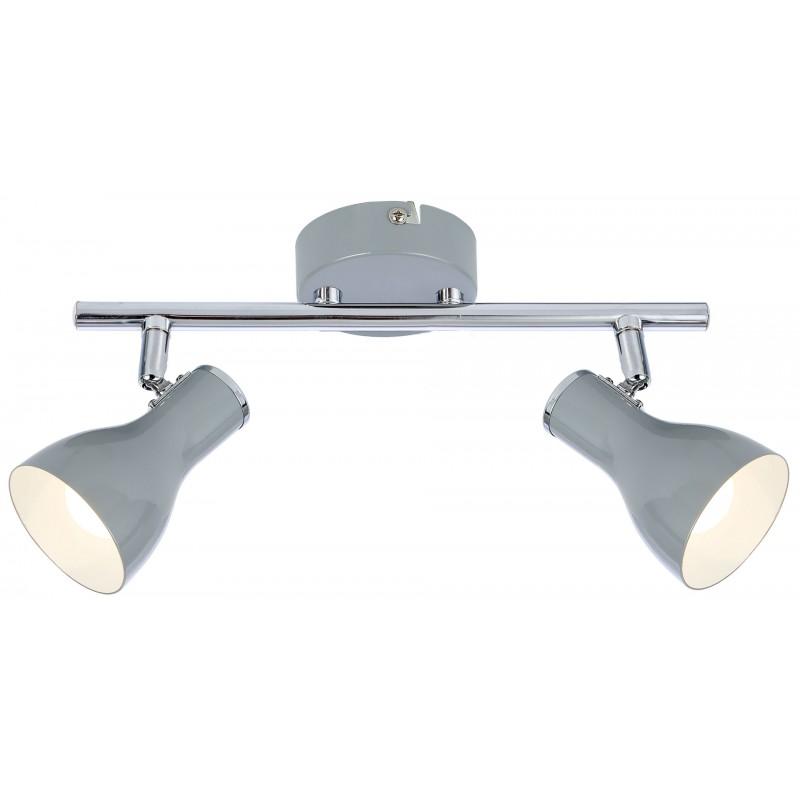 Lampy-sufitowe - szara listwa oświetleniowa podwójna 2xe14 92-66626 julie candellux firmy Candellux