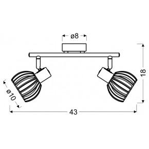 Lampy-sufitowe - oprawa ścienno-sufitowa biała z drewnianym kloszem 92-68088 atarri candellux