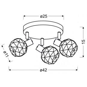 Lampy-sufitowe - lampa sufitowa spot potrójny czarny/złoty 3xe14 98-66466 acrobat candellux