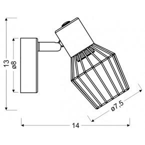 Kinkiety - industrialny szary kinkiet ażurowy e14 viking 91-68002 candellux