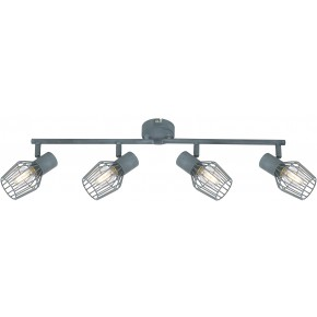 VIKING LAMPA SUFITOWA LISTWA 4X40W E14 SZARY