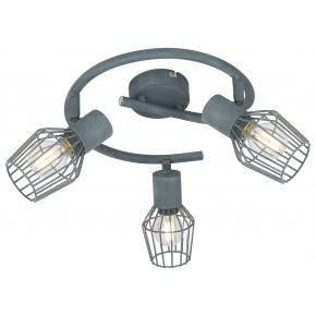 VIKING LAMPA SUFITOWA SPIRALA 3X40W E14 SZARY