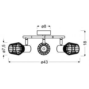 Lampy-sufitowe - viking lampa sufitowa spirala 3x40w e14 szary 98-68040 candellux