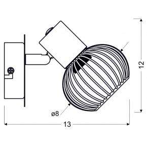 Kinkiety - srebrno-czarny ażurowy kinkiet na żarówkę e14 91-61836 oslo candellux