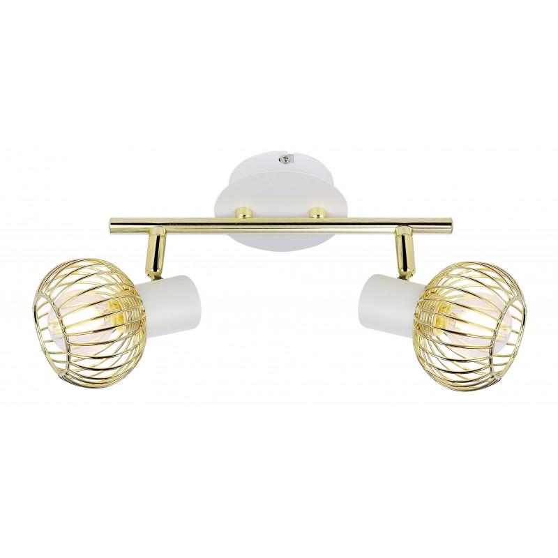 Lampy-sufitowe - biało-złota ażurowa lampa sufitowa 92-61805 oslo candellux firmy Candellux
